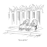 """Top me off, Rex!"" - New Yorker Cartoon Premium Giclee Print by Peter Porges"