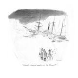 &quot;Hasn&#39;t changed much, eh, Sir Henry&quot; - New Yorker Cartoon Premium Giclee Print by W. Heath Robinson
