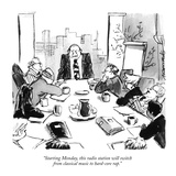 """Starting Monday, this radio station will switch from classical music to h…"" - New Yorker Cartoon Premium Giclee Print by Robb Armstrong"