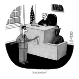 """Look familiar"" - New Yorker Cartoon Reproduction giclée Premium par J.C. Duffy"