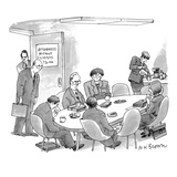 Attorneys Without Clients - New Yorker Cartoon Premium Giclee Print by M.K. Brown