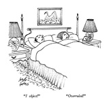 """I object!""     ""Overruled!"" - New Yorker Cartoon Premium Giclee Print by Joseph Farris"