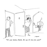 """It's your dentist, Charlie.  He says it's been five years!"" - New Yorker Cartoon Premium Giclee Print by Al Ross"