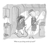 """What are you doing outside of coach"" - New Yorker Cartoon Premium Giclee Print by Gahan Wilson"