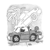 "Car's ghost leaves car with large wings and halo, parking meter says ""Expi… - New Yorker Cartoon Premium Giclee Print by Gahan Wilson"