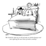 """Mr. Goodrich, what say we tell each other our darkest fantasies and start…"" - New Yorker Cartoon Premium Giclee Print by George Booth"
