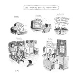 The Upcoming Dental Appointment - New Yorker Cartoon Premium Giclee Print by Roz Chast