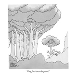 """Very few leave the grove!"" - New Yorker Cartoon Premium Giclee Print by Gahan Wilson"