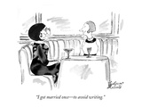 """I got married once—to avoid writing."" - New Yorker Cartoon Premium Giclee Print by Victoria Roberts"