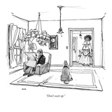 """""""Don't wait up."""" - New Yorker Cartoon Giclee Print by George Booth"""