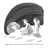 """Maybe things would have turned out better if I'd put in a whole week."" - New Yorker Cartoon Premium Giclee Print by John Donohue"