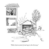 """Walter had an attack of road rage in the driveway."" - New Yorker Cartoon Premium Giclee Print by George Booth"