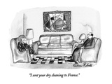 """I sent your dry cleaning to France."" - New Yorker Cartoon Regular Giclee Print by Victoria Roberts"
