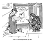 """Don't be so chintzy with the life line!"" - New Yorker Cartoon Premium Giclee Print by Gahan Wilson"