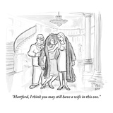 """Hartford, I think you may still have a wife in this one."" - New Yorker Cartoon Premium Giclee Print by Paul Noth"