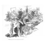 """Mamma, there's a lot of people in my bed."" - New Yorker Cartoon Premium Giclee Print by Perry Barlow"