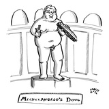"""Michelangelo's Doug"" - New Yorker Cartoon Premium Giclee Print by Farley Katz"