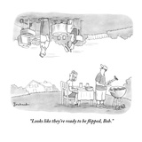 """Looks like they're ready to be flipped, Bob."" - New Yorker Cartoon Premium Giclee Print by David Borchart"