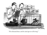 """Five thousand hours, and his vital signs are still strong."" - New Yorker Cartoon Premium Giclee Print by Mike Twohy"
