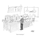 """Leave room for gin."" - New Yorker Cartoon Premium Giclee Print by Jonny Cohen"