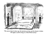 """The caterers haven't shown up, the musicians are late, and the elevator i…"" - New Yorker Cartoon Premium Giclee Print by Robert Weber"