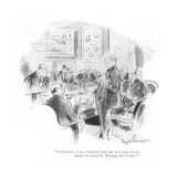 """Gentlemen, I am convinced that our next new biscuit should be styled by N…"" - New Yorker Cartoon Premium Giclee Print by Kemp Starrett"