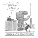 """King Kong vs The City of New York"" - Cartoon Giclee Print by Danny Shanahan"