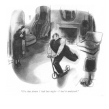 """It's that dream I had last night—I had it analyzed."" - New Yorker Cartoon Premium Giclee Print by Richard Decker"