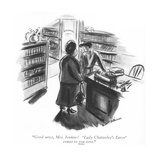 """Good news, Mrs. Jenkins! 'Lady Chatterley's Lover' comes to you next."" - New Yorker Cartoon Premium Giclee Print by Helen E. Hokinson"