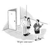 """""""It's pre- some wars."""" - New Yorker Cartoon Premium Giclee Print by Emily Flake"""