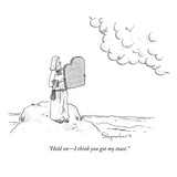"""Hold on—I think you got my toast."" - New Yorker Cartoon Premium Giclee Print by Danny Shanahan"