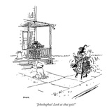 """Jehoshaphat! Look at that gait!"" - New Yorker Cartoon Premium Giclee Print by George Booth"