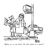 """Before we set out, there's this little matter of a waiver."" - New Yorker Cartoon Premium Giclee Print by Brian Savage"