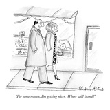 """For some reason, I'm getting nicer.  Where will it end"" - New Yorker Cartoon Premium Giclee Print by Victoria Roberts"