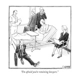 """I'm afraid you're retaining lawyers."" - New Yorker Cartoon Premium Giclee Print by Matthew Diffee"