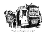 """Vote for me so I can get on with my life."" - New Yorker Cartoon Premium Giclee Print by Robert Weber"
