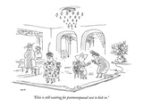 """Elsie is still waiting for postmenopausal zest to kick in."" - New Yorker Cartoon Premium Giclee Print by George Booth"