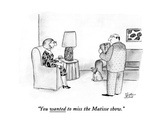 """You wanted to miss the Matisse show."" - New Yorker Cartoon Premium Giclee Print by Victoria Roberts"