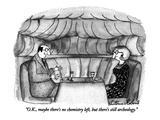 """O.K., maybe there's no chemistry left, but there's still archeology."" - New Yorker Cartoon Regular Giclee Print by Victoria Roberts"