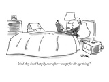 """""""And they lived happily ever after—except for the age thing."""" - New Yorker Cartoon Giclee Print by Dean Vietor"""