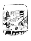 "Waitress says to the Cat-in-the-Hat, ""Look, I told you before-it's the ham… - New Yorker Cartoon Premium Giclee Print by Stephanie Skalisky"