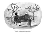 """Charles, would you be my vintner"" - New Yorker Cartoon Premium Giclee Print by Victoria Roberts"