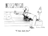 """I have dusk free."" - New Yorker Cartoon Premium Giclee Print by Victoria Roberts"