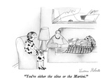 """You're either the olive or the Martini."" - New Yorker Cartoon Regular Giclee Print by Victoria Roberts"