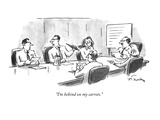 """I'm behind on my carrots."" - New Yorker Cartoon Premium Giclee Print by Mike Twohy"