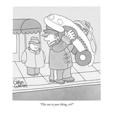 """This one to your liking, sir"" - New Yorker Cartoon Premium Giclee Print by Gahan Wilson"