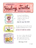 Introducing . . .Healing Truths Mother's Day Cards - New Yorker Cartoon Premium Giclee Print by Roz Chast