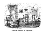 """This line represents my expectations."" - New Yorker Cartoon Premium Giclee Print by Robert Weber"