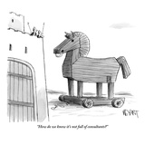"""How do we know it's not full of consultants"" - New Yorker Cartoon Premium Giclee Print by Christopher Weyant"