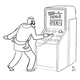 "A Jewish man wielding a scalpel is playing a game called ""Bris-a-mole"" - New Yorker Cartoon Premium Giclee Print by Paul Noth"
